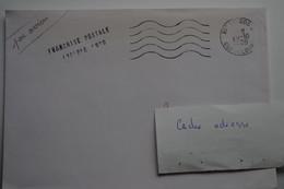 4-258 Rare Guadeloupe 1989 Climat Le Gosier  Franchise Postale Cyclone Hugo Affranchissement  Tarif Special Gratuité - Curiosidades: 1980-89 Usados