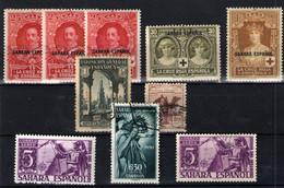 Sahara Español Nº 17/18,23,33,41,85/86 Y 86. Año 1925/1930 - Sahara Espagnol