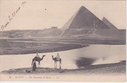 EGYPTE - PYRAMIDES DE GIZEH GIZÉ  EN CONTREJOUR - Pyramids