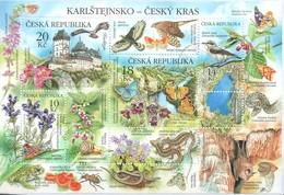 Tschechien - MiNr. 773-76 = Block 51 - Naturschutzgebiet Karlstein - Gestempelt - Schmetterlinge