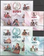 X300 2010 MOCAMBIQUE SPORT CHESS CHAMPIONS 3691-3704 MICHEL 26 € 2KB+2BL MNH - Echecs