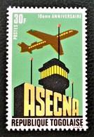 10 EME ANNIVERSAIRE DE L'A.S.E.C.N.A 1971 - NEUFS * - YT 714 - MI 874 - Togo (1960-...)