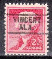 USA Precancel Vorausentwertung Preo, Locals Alabama, Vincent 729 - Etats-Unis