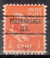 USA Precancel Vorausentwertung Preo, Locals Alabama, Vredeburgh 734 - Vereinigte Staaten