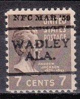 USA Precancel Vorausentwertung Preo, Locals Alabama, Wadley 701 - Etats-Unis