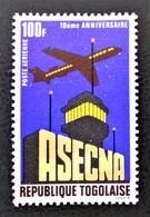10 EME ANNIVERSAIRE DE L'A.S.E.C.N.A 1971 - NEUF ** - YT PA 157 - MI 875 - Togo (1960-...)