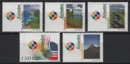 Ecuador (2001) Yv. 1554/58  / Landscapes - Galapagos - Pacific Coast - Mountains - Montagnes - Vacaciones & Turismo