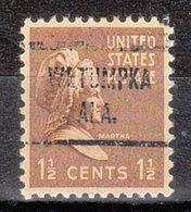 USA Precancel Vorausentwertung Preo, Locals Alabama, Wetumpka 721 - Etats-Unis