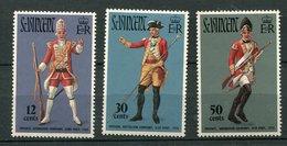 St Vincent **  N° 312 à 314 - Costumres Militaires - St.Vincent (1979-...)