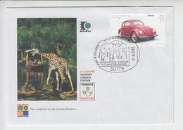GERMANIA 2005 - Annullo Speciale Illustrato - Elefanti E Giraffa - Elefanti