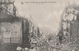 Louvain, Leuven ,incendié Par Les Allemandsen Aout  1914  ; Rue De Diest - Leuven