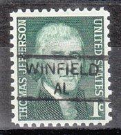 USA Precancel Vorausentwertung Preo, Locals Alabama, Winfield 835,5 - Vereinigte Staaten