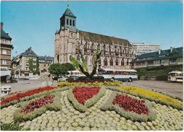 Lisieux: RENAULT 4, CITROËN 2CV, 5x AUTOBUS/COACH - Eglise Saint-Jacques - Toerisme
