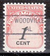 USA Precancel Vorausentwertung Preo, Locals Alabama, Woodville 841 - Etats-Unis