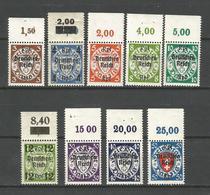 Deutsches Reich, Neuer Wert Auf Danzig-Marken Nr. 716 - 721 OR /  725 - 727 Postfrisch ** - Deutschland