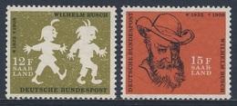 Deutschland Germany 1958 Mi 281 /2  YT 153 /4 Sc 780 /1 SG 1200 /1 * MH - W. Busch, Writer, Illustrator / Dichter, Maler - Schrijvers
