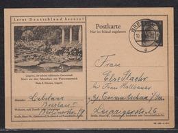 """Dt.Reich Bildpostkarte MiNo. P 307  Bild """" Liegnitz , Die Schöne Schlesische Gartenstadt """" O Breslau 1943, - Deutschland"""