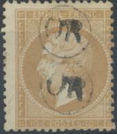 [41127]N° 21, Infime Clair Sinon TB. 2x Obl 'OR' Dans Un Cercle - 1862 Napoléon III.