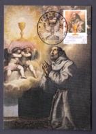 25.P.- SPAIN 1997 SAINT PASCUAL BAYLON Painting By Vicente Caducho (XVII S.) - Cristianismo