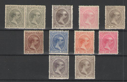 Puerto Rico Nº 86/87,90,96,102/04,113 Y 115/16. Año 1891/1897 - Puerto Rico