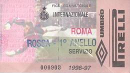 Biglietto Servizio Stadio Meazza San Siro Calcio Inter Roma Ticket Inter-Roma 96/97 - Biglietti D'ingresso