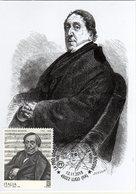 Italia 2018 150° Anniversario Morte Gioachino Rossini Compositore Cartolina Annullo Lugo (RA) - Muziek