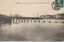 89 AUXERRE  Crue De L'Yonne - Vue Prise Du Boulevard Vaulabelle - Auxerre