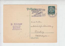 GERMANIA  1937 - Annullo Meccanico - Aereo - Deutjche Luftpost - - Winter 1936: Garmisch-Partenkirchen
