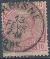 [43114]N° 38, Obl Centrale 'Rhisne', Nipa +7,5 ? - 1883 Léopold II