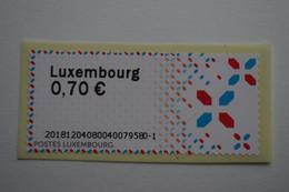 4-265  Luxembourg Label Timbre Autocollant Christmas Etiquette Autocollante Distributeur - Europa-CEPT