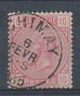 [43783]N° 38, Centrage Parfait Et TB Obl 'Chimay' - 1883 Léopold II