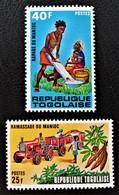 INDUSTRIE DU MANIOC 1972 - NEUFS * - YT 744/45 - MI 723/24 - Togo (1960-...)