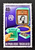 JOURNEE MONDIALE DES TELECOMS 1972 - NEU F * - YT 746 - MI 927 - Togo (1960-...)