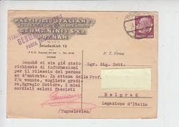 GERMANIA  OCCUPAZIONI 1940  - Cartolina - Pastificio Italiano - Poznan - Alimentazione