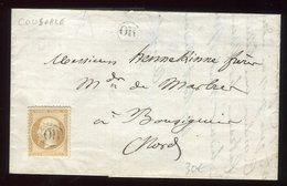 Lettre ( Avec Texte ) De Cousorle En 1866 , Oblitération OR / Napoléon - N391 - Postmark Collection (Covers)