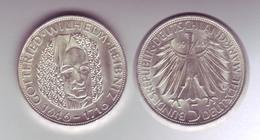 Silbermünze 5 DM 1966 D Leibniz Stempelglanz - Coins