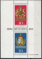 Germania 1973 Sc. B502 Expo IBRA Monaco Munchen Stemma Arms Sheet MNH Wurttemberg. Bavaria - Timbres