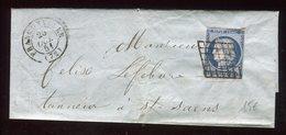 Lettre ( Avec Texte ) De Franconville Pour Saint Saëns En 1851 - N392 - Marcophilie (Lettres)