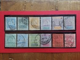 EX COLONIE INGLESI - GUYANA 1880/90 - Lotticino 12 Valori Differenti Timbrati + Spese Postali - Guyana Britannica (...-1966)