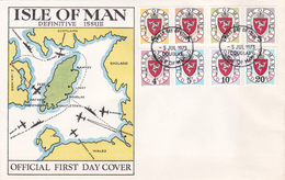 Lettre FDC - Isle Of Man - Definitive Issue - Timbres Taxe 1/8 - Man (Ile De)
