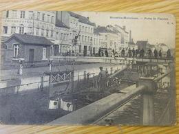BRUXELLES MOLENBEEK:PORTE DE FLANDRE AVEC ECLUSE-TRES ANIMEE-1906 - Molenbeek-St-Jean - St-Jans-Molenbeek