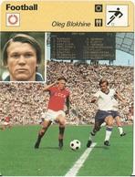 Fiche Editions Rencontre Oleg Blokhine - Football