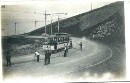 N°67752 -rare Carte Photo Les Essais Du Tramway à Sainte Adresse- - Sainte Adresse