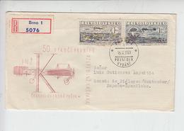 CECOSLOVACCHIA  1959 -  Primo Volo Kaspara - Annullo Speciale - Aerei