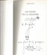 Dédicace De Jordi Soler - Les Exilés De La Mémoire - Livres, BD, Revues