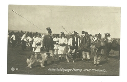 AK Trachtengruppe Aus Czernowitz - Kaiserhuldigungsfestzug Wien 1908 - Bukowina - Rumänien