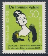 """Deutschland Germany 1982 Mi 1129  YT 961 Sc 1371 SG 1993 ** """"Die Fromme Helene"""" W. Busch, Writer, Illustrator / Dichter - Schrijvers"""