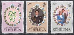 St.Helena 1981 Mi# 342-44** ROYAL WEDDING - Saint Helena Island