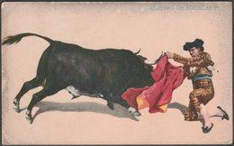 Corrida - Quiebro De Rodillas 1°, C.1900-05 - Tarjeta Postal - Corrida