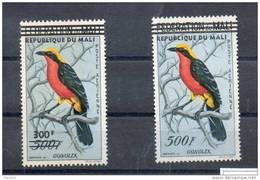Mali. Poste Aérienne. Oiseaux. Timbres Surchargés - Mali (1959-...)